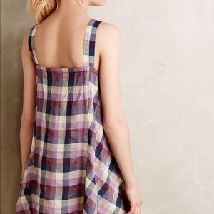 Anthropologie Tops - Holding horses plaid trapeze top